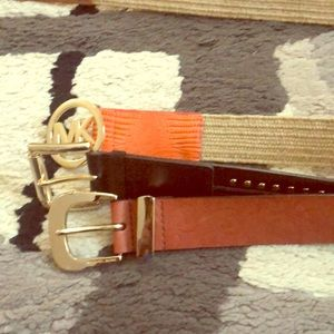 Bundle 3 Michael Kors belt